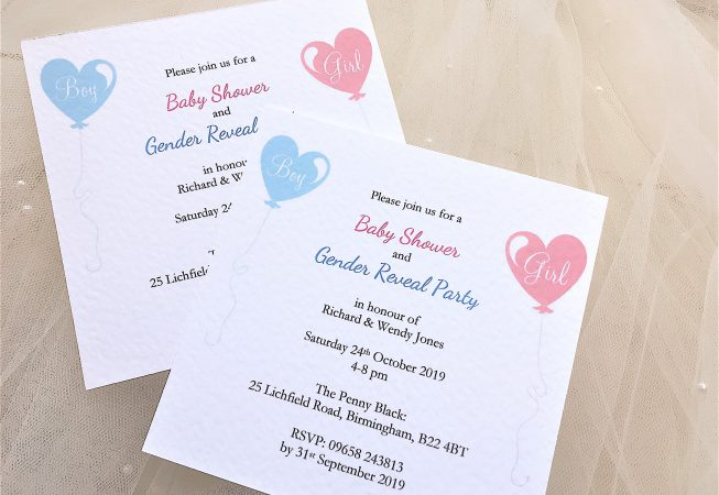 Baby Shower and Gender Reveal Invitations