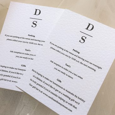 Simplicity Guest Information Cards