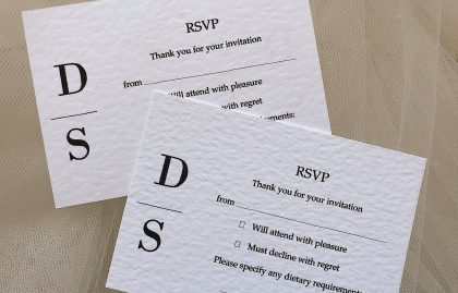 Simplicity RSVP Cards and Envelopes