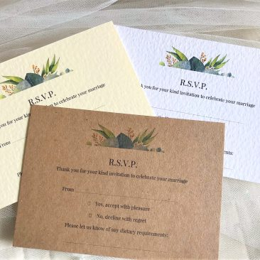 Autumn Leaf RSVP Postcards