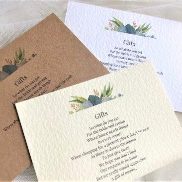Autumn Leaf Guest Information Cards
