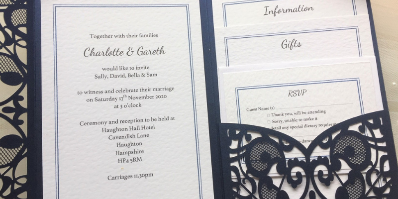 Affordable Wedding Invitations Personalised Wedding Invites From 60p