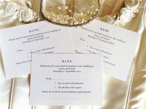 RSVP cards and Information cards
