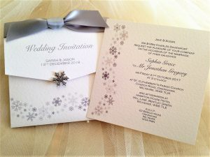 Snowflake Wedding Wallets 2