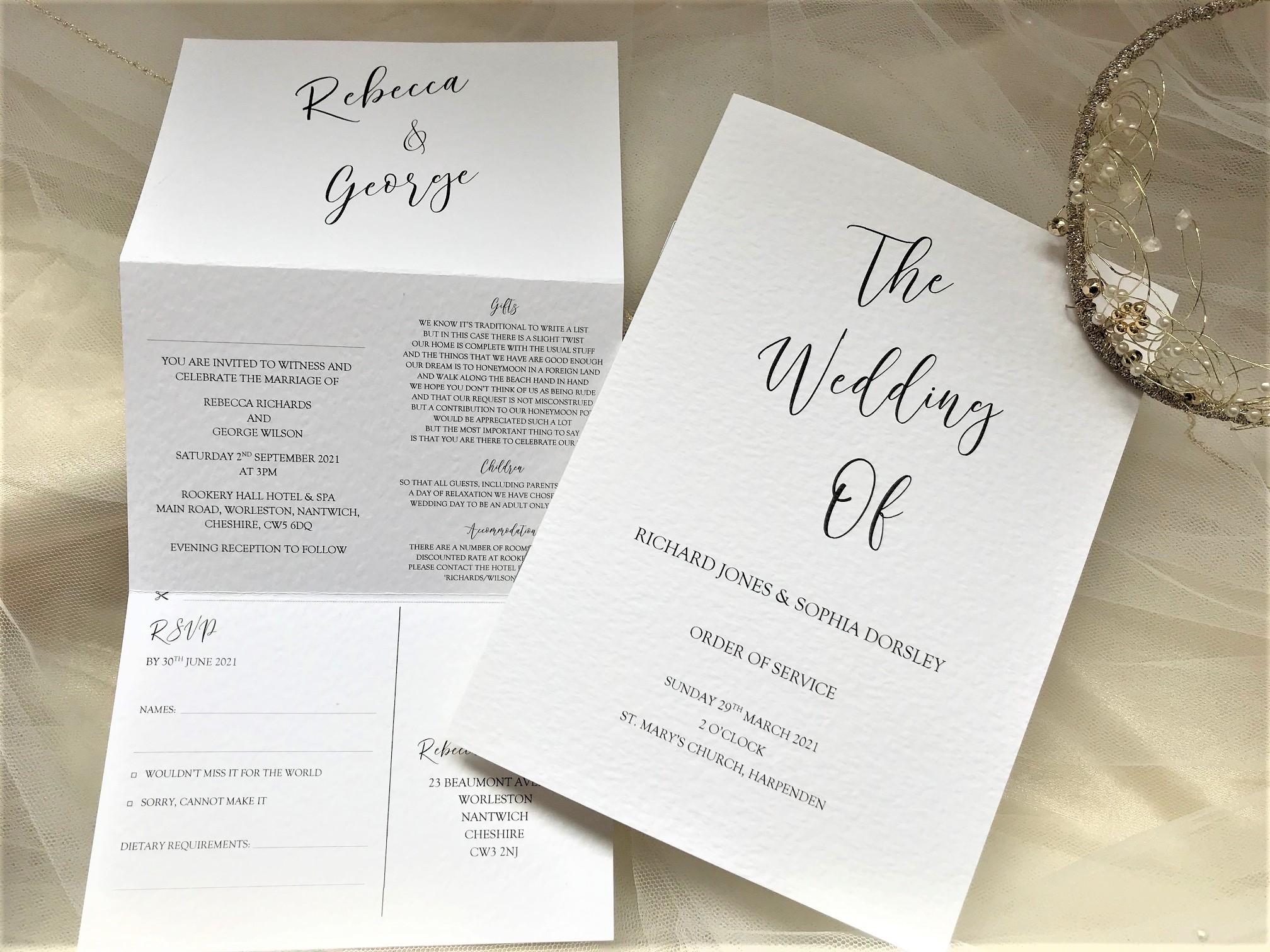 Burleigh Concertina Wedding Invitations