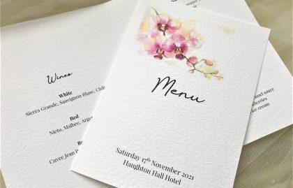 Oriental Orchid Menu Booklets