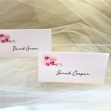 Oriental Orchid Place Cards
