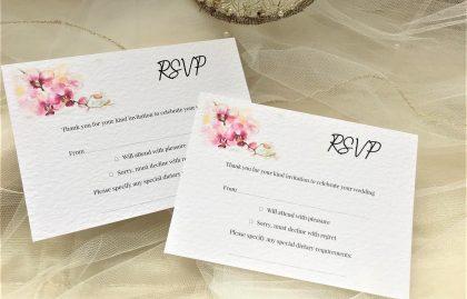 Oriental Orchid RSVP Postcards