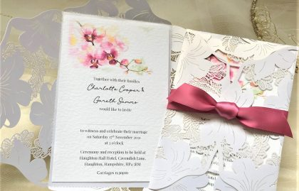 Oriental Orchid Wedding Invitations