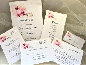 Oriental Orchid Wedding Stationery