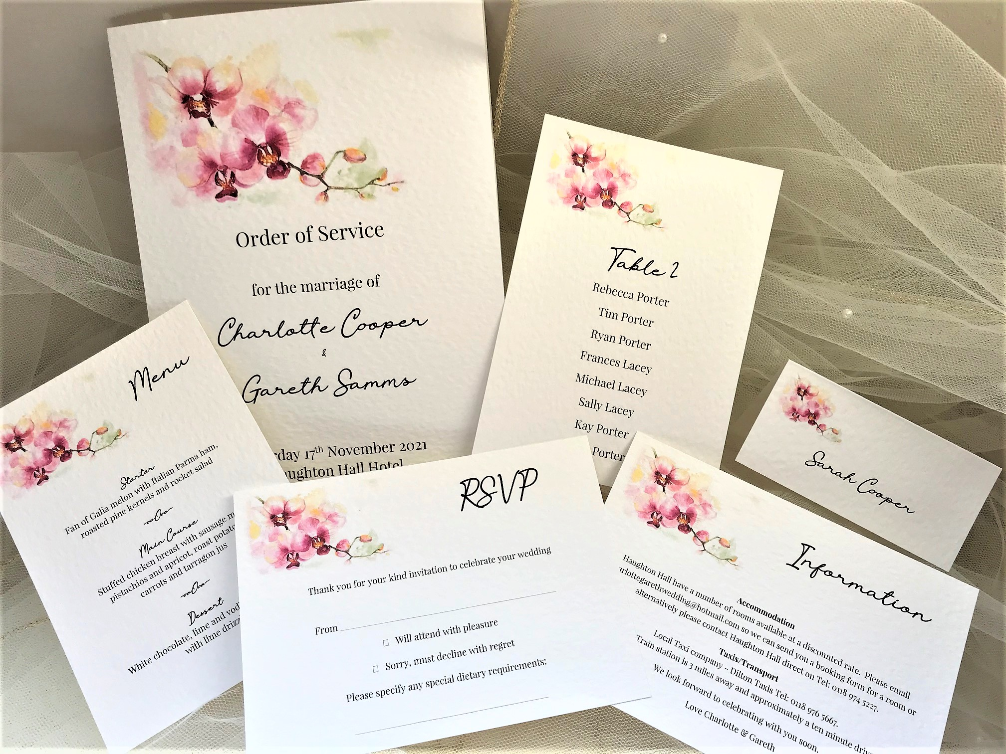 Oriental Orchid Wedding Stationery