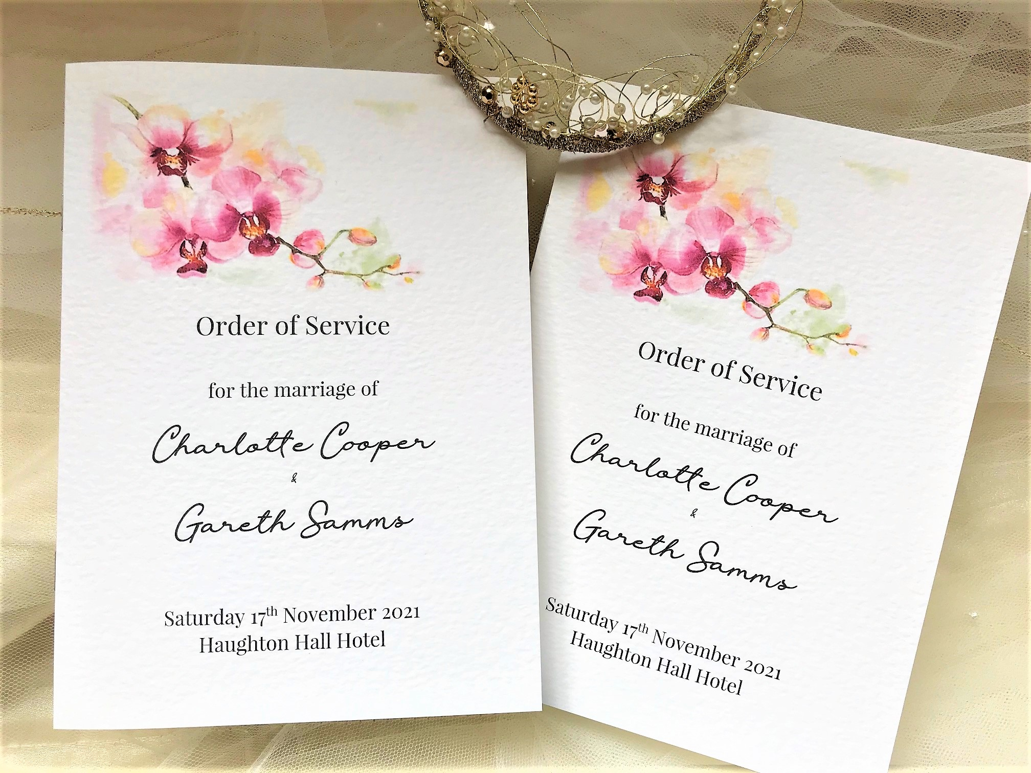 Oriental Orchid Order of Service Books