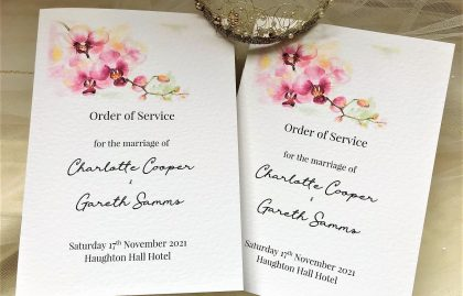 Oriental Orchid Order of Service Books (Small)