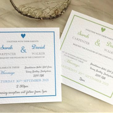 York Square Wedding Invitations