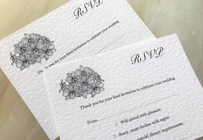 Lily RSVP card and envelope