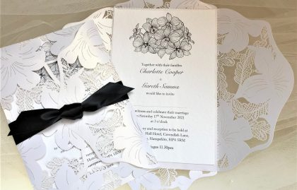 Lily Laser Cut Wedding Invitations