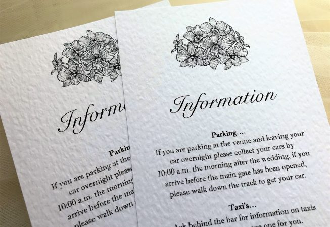 Lily Guest Information Cards
