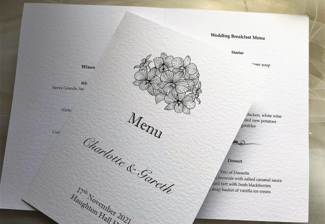 Lily Menu Booklets