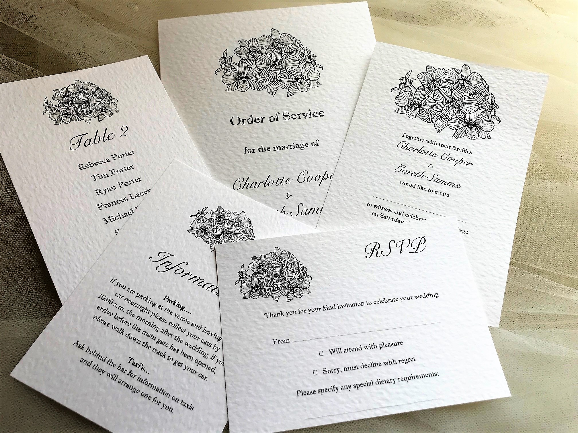 Lily Wedding Stationery