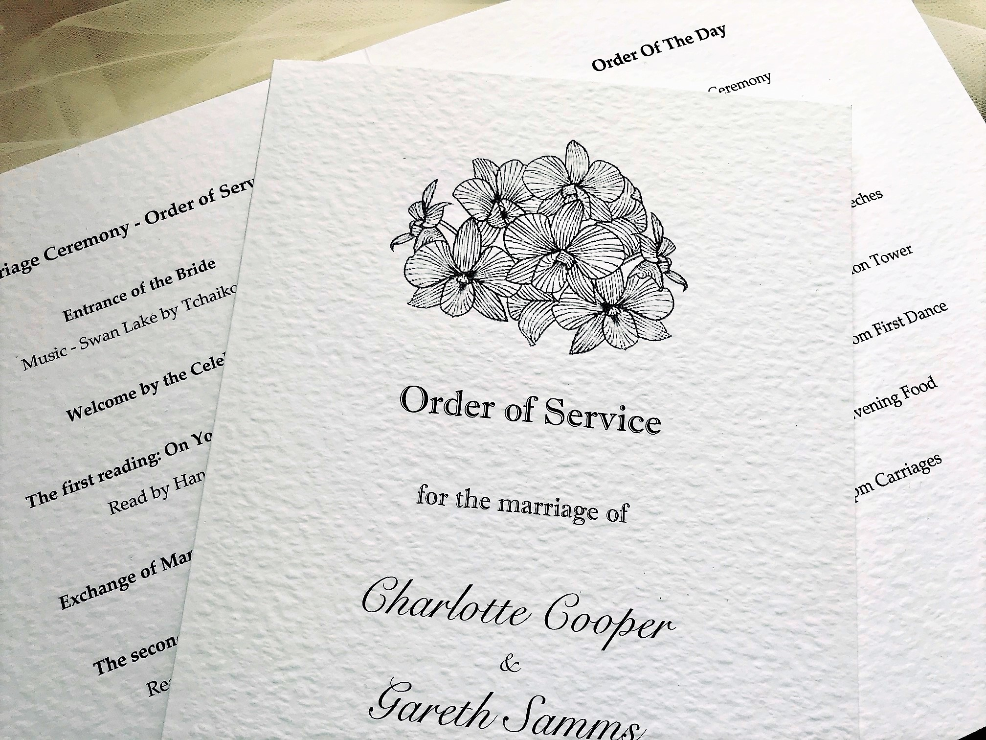 Lily Wedding Order of Service Books