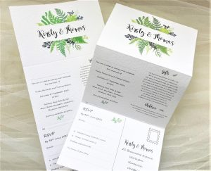 Woodland Fern Concertina Wedding Invitations