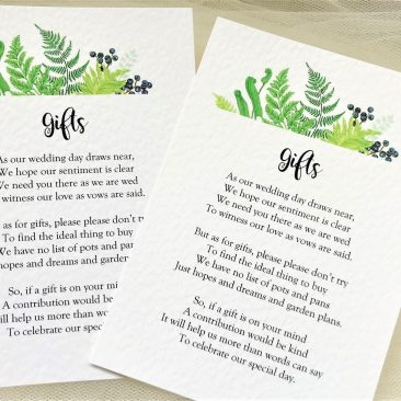 Woodland Fern Information Cards