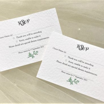 Woodland Fern RSVP Postcards