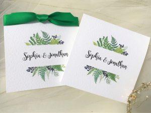 Woodland Fern Pocketfold Wedding Invitations