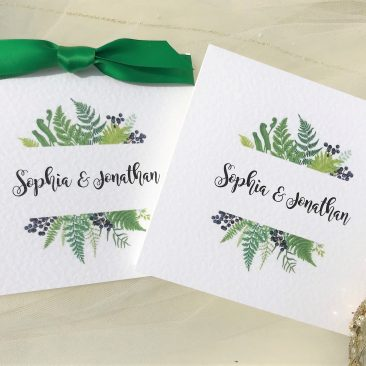 Woodland Fern Pocketfold Wedding Invitations