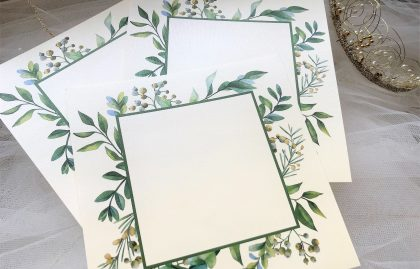 DIY Wedding Invites – Woodland Frame