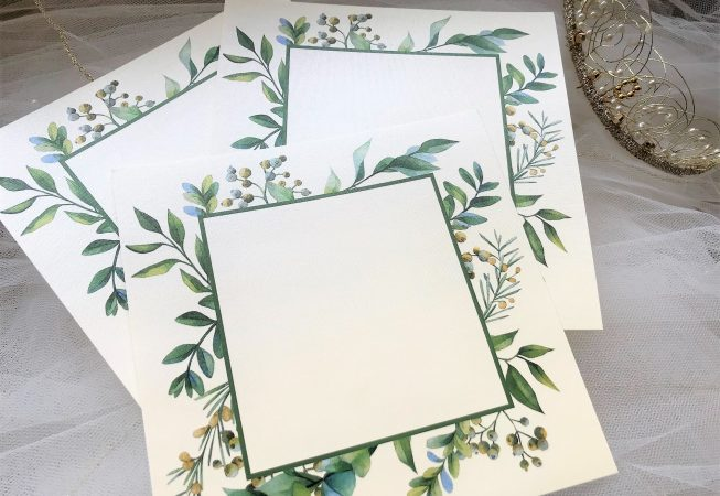 DIY Woodland Frame Invitations