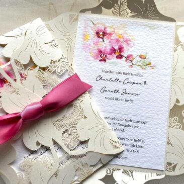 Oriental Orchid Wedding Invitations
